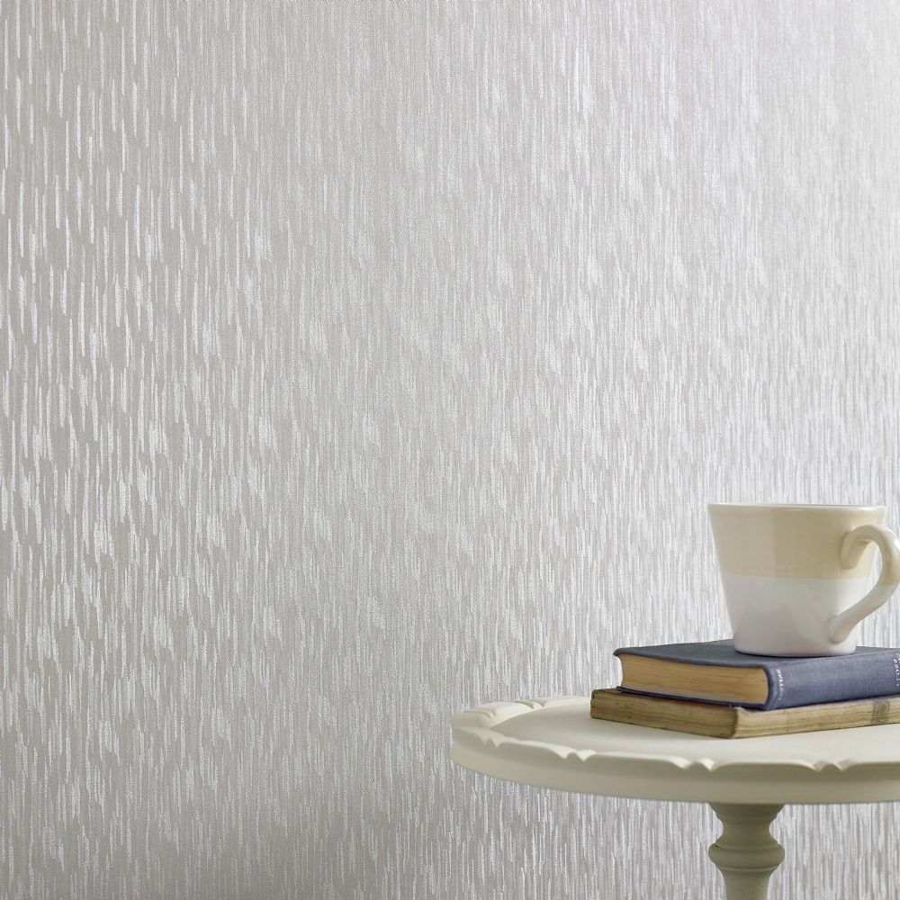 Graham and Brown Silken Stria Silver Mist 32-910 Wallpaper